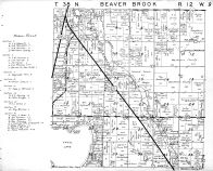 Beaver Brook Township, Washburn County 1952